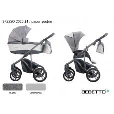 Коляска 2 в 1 Bebetto Bresso 2020 (экокожа+ткань) 21/рама графит