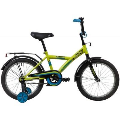 "Велосипед NOVATRACK 18"" FOREST зелёный, тормоз нож, крылья, багажник, защита А-тип"