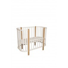 Кроватка детская Incanto Nuvola 3 в 1 цвет белый/бук