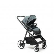 DYNASTY серая, коляска детская складная прогулочная сидячая, с накидкой на ножки, дождевиком