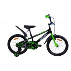 Велосипед детск. Aist Pluto 16 (черно-зеленый)