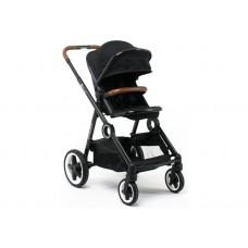 DYNASTY черная, коляска детская складная прогулочная сидячая, с накидкой на ножки, дождевиком