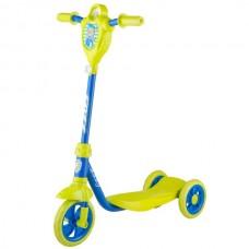 Самокат городской Foxx Baby с пластиковой платформой и EVA колесами 115мм, лимонно-синий #120903В