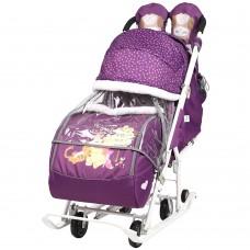 """Санки-коляска """"Disney-baby 2"""" (Disney Медвежонок Винни и его друзья, баклажан)"""