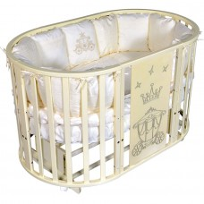 """Кроватка """"Sofia 2 Crown"""", универсальный маятник универсальный, колесо, белый"""