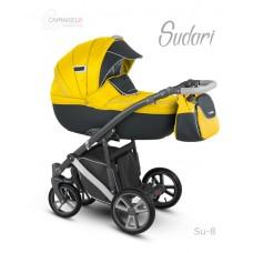 """Коляска 2в1 """"Sudari"""" (SU-8) желтый-т.серая экокожа"""
