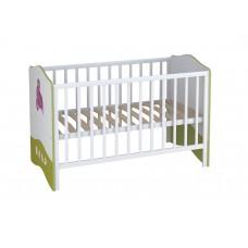Кроватка детская Polini kids Basic Elly 140х70 белый-зеленый