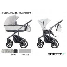 Коляска 2 в 1 Bebetto Bresso 2020 (экокожа+ткань) 22/рама графит