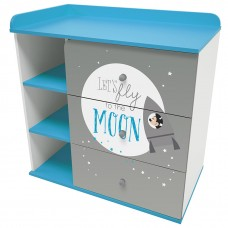 "Комод Polini kids Disney baby 5090 ""Микки Маус"", с 3 ящиками, белый-серый"