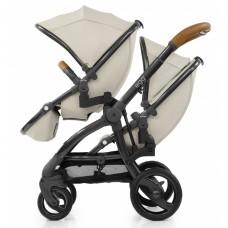 Прогулочный блок для второго ребенка Egg Tandem Seat Jurassic Cream & Gun Metal Chassis TS-JCGM