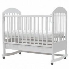 """Кровать детская (арт.49) 120*60 """"Дарина """"-2 колесо белый"""