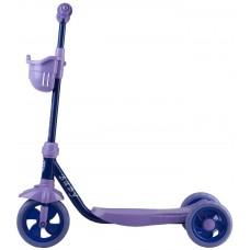 Самокат городской Foxx Baby с пластиковой платформой и EVA колесами 115мм, корзинка, ультрамари 1276