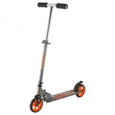 Самокат городской Foxx Extreme Power cталь PU колеса145мм,ABEC-7, серо-оранжевый #117756