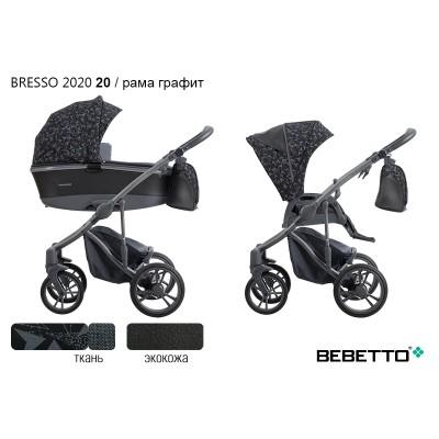Коляска 3 в 1 Bebetto Bresso 2020 (экокожа+ткань) 20/рама графит