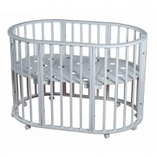 Кровать круглая-овальная НИКОЛЬ Белый