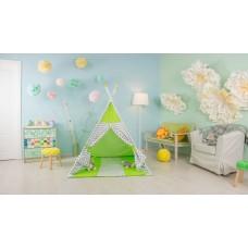 Палатка-вигвам детская Polini kids Зигзаг, зеленый