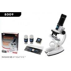 Набор для опытов с микроскопом и аксессуарами, 25 предметов, белый, пластмасса
