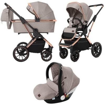 Детская коляска 3 в 1 CARRELLO Aurora CRL-6502 Almond Beige