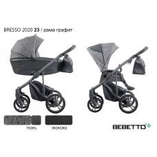 Коляска 2 в 1 Bebetto Bresso 2020 (экокожа+ткань) 23/рама графит