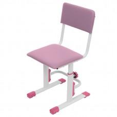 Стул для школьника регулируемый Polini kids City / Polini kids Smart L, белый-розовый
