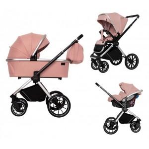 Детская коляска 3 в 1 CARRELLO CRL-6504 Optima Hot Pink