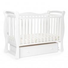 Детская кровать BEBIZARO JAMESON Маятник универсальный с ящиком WHITE