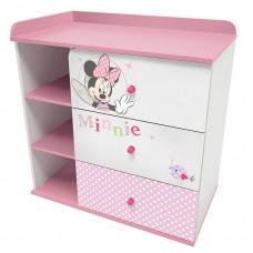 """Комод Polini kids Disney baby 5090 """"Минни Маус-Фея"""" , с 3 ящиками, белый-розовый"""