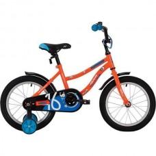 """Велосипед NOVATRACK 14"""" NEPTUNE оранжевый, тормоз нож, крылья корот, полная защ.цепи"""