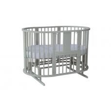 Кровать детская круглая с универ. маятником ELEPHANT слоновая кость