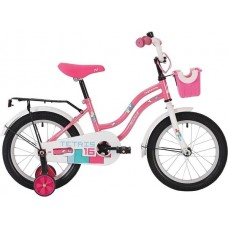 """Велосипед NOVATRACK 12"""" TETRIS розовый,тормоз нож.,крылья цвет.,багажник чёрный., перед.корзина, пол"""