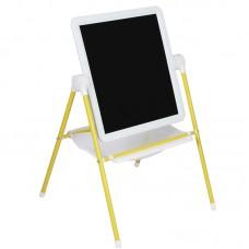 Мольберт МДУ.08 (White) двухсторонний для рисования маркерами и мелом.Желтый.
