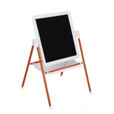 Мольберт МДУ.08 (White) двухсторонний для рисования маркерами и мелом Бело-оранжевый