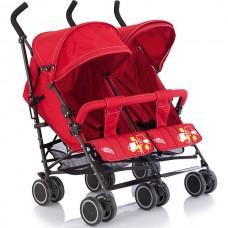Baby Care, Коляска для двойни City Twin (трость) (Красный (Red))