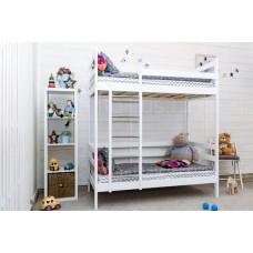 Двухъярусная кровать Altezza цвет белый с ящиками