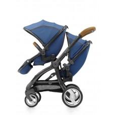 Прогулочный блок для второго ребенка Egg Tandem Seat Petrol Blue & Gun Metal Chassis TS-PBGM