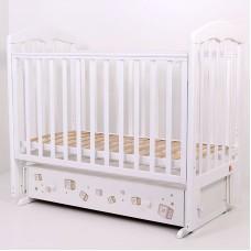 """Кровать детская 120*60 """"Лучик"""" (арт.65) (белый+принт)"""