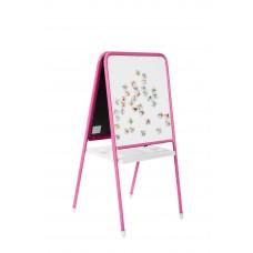 Мольберт детский универсальный МДУ.06 бело/розовый