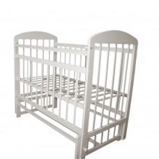 Кровать детская 09 маятник универсальный с накладкой Белый