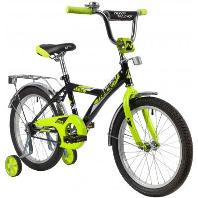 """Велосипед NOVATRACK 18"""" ASTRA чёрный, тормоз нож, крылья и багажник хром, защита А-тип"""