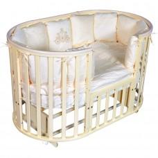 """Детская кровать """"Aleksa""""6 в1 ПВХ накладка,универсальный маятник, колесо, сл.кость"""