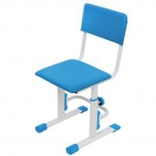 Стул для школьника регулируемый Polini kids City / Polini kids Smart S, белый-синий