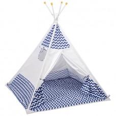 Палатка-вигвам детская Polini kids Зигзаг, синий