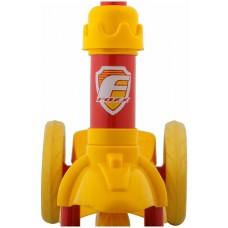 Самокат городской Foxx Baby с пластиковой платформой и EVA колесами 115мм, желто-красный #118968